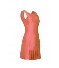 Vestido corto seda coral