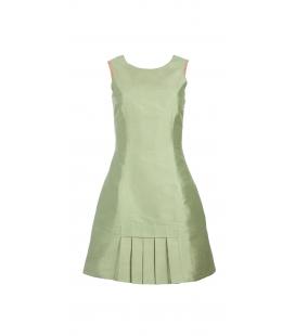 Vestido corto seda verde manzana