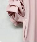 Vestido corto rosa en gabardina talla grande