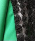 Vestido corto verde fluido