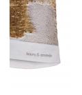 sudadera algodón ecológico blanco y lentejuelas mágicas