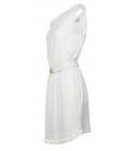 Vestido corto blanco roto