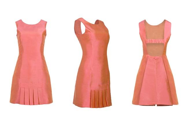 Vestido Seda Coral